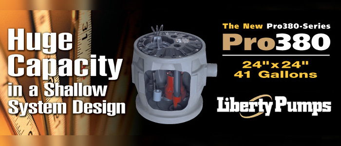 Liberty Pumps - Huge capacity in a shallow system design